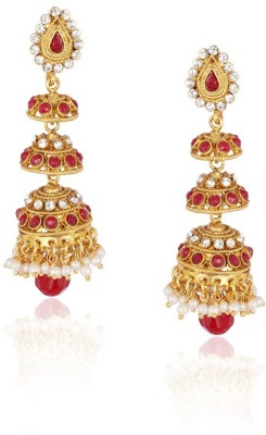 Kashvi Spring Sparkle Brass Jhumki Earring