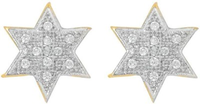 Voylla Precious Classic Embellished Cubic Zirconia Sterling Silver Stud Earring