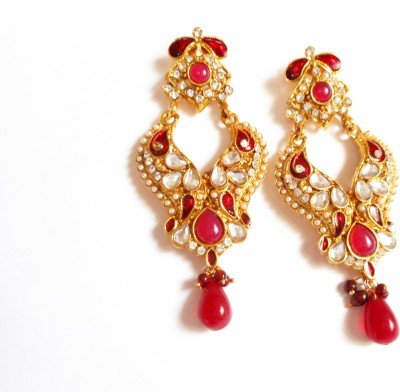 Neelam Fashions And Accessories party wear dangle jhumki Alloy Chandelier Earring