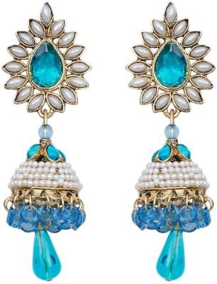 Grand Jewels Blue Alloy Jhumki Earring