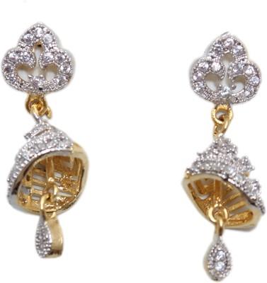 Greek Sojourn F3B82 Brass Jhumki Earring