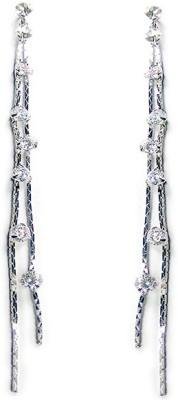 000 Fashions Long Layered Crystal Dangler Crystal Alloy Dangle Earring