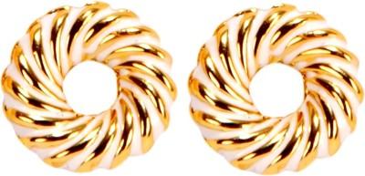 Bezel MT - 163 - White Alloy Stud Earring
