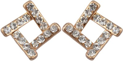 Golden Petals Glam G Alloy Stud Earring