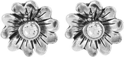 Shining Jewel Jet Star Crystal Brass Stud Earring