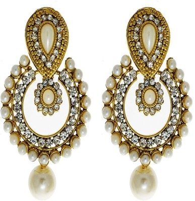 Being Snazzy Royal Crafted Pearl Plastic Jhumki Earring