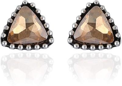 Vastradi Jewels Appealing, Triangular Shape Brass, Alloy Stud Earring