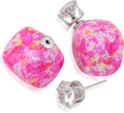 Eve's Wardrobe Orchid Pink Zircon Metal Stud Earring