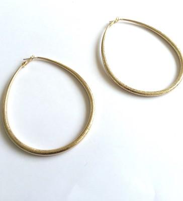 Arkina Diamonds Matt Loops Brass Hoop Earring
