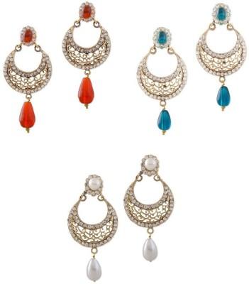 Buyclues RCCJ3439 Crystal Brass Earring Set