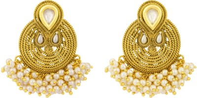 Rajwada Arts Traditional Rajasthani Brass Chandbali Earring