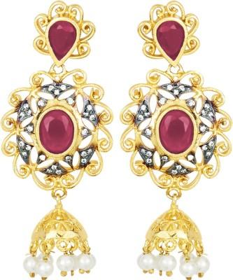 Peora Antique Brass Jhumki Earring