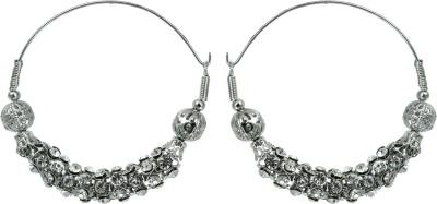 Suvini Color Spark Crystal Alloy Hoop Earring