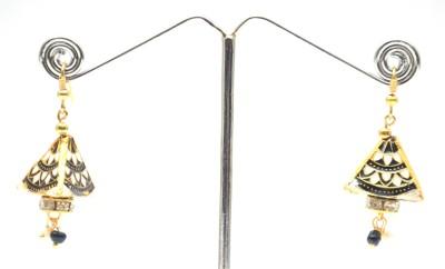 Ultimate Fashion Minakari Triangular Jhumki Alloy Dangle Earring
