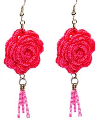 Saaheli Large Textile Jewelry Fabric Dangle Earring