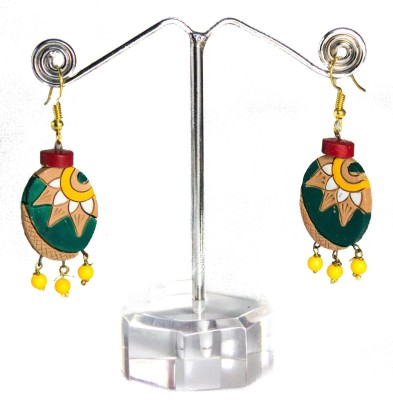 TANDRA,S TERRACOTTA Multicolor Earrings Terracotta Dangle Earring