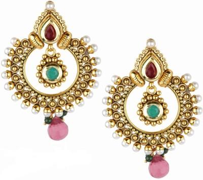 Bridesmaid Pearl Copper Chandbali Earring