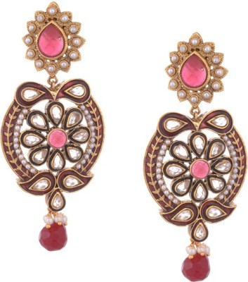 Young & Forever Inspired Designer Ethnic Diva Copper, Stone Chandbali Earring