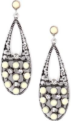 Madclozet Milky Metal Dangle Earring