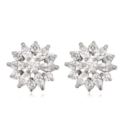 Atasi International Swiss Zircon Crystal Alloy Stud Earring at flipkart