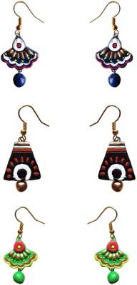 Chhayamoy Beautiful Jhumki Terracotta Earring Set