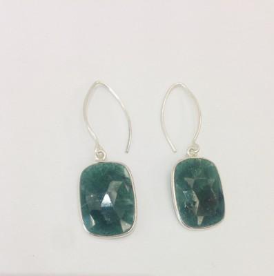 Aarohee Green elegance Sterling Silver Drop Earring