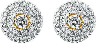 JPearls Inspired Cubic Zirconia Gold Stud Earring