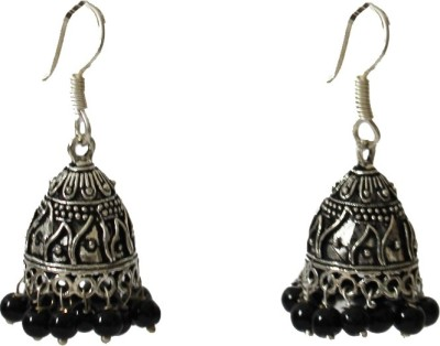 GiftshandicraftsIndia Fascinating Oxidized Plated Jhumkis German Silver Jhumki Earring