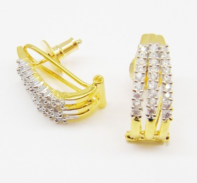 E-Designs CHAP3LGJ-368 Cubic Zirconia Alloy Clip-on Earring