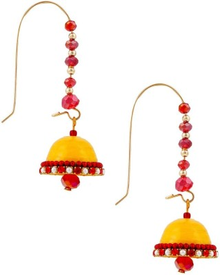 Halowishes Traditional Hancrafted Kidney Hook Jhumka Paper Hoop Earring