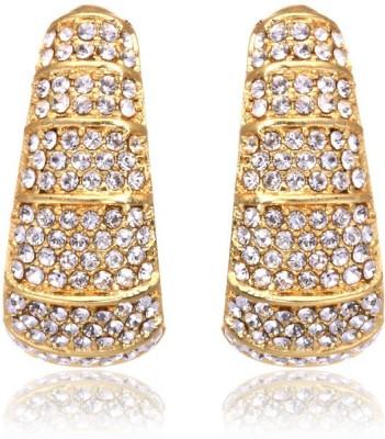 Eclat 1111141G Swarovski Crystal Alloy, Brass Huggie Earring