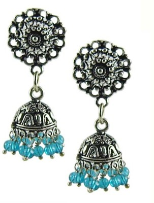 Saffron Craft Silver Collections Alloy Jhumki Earring