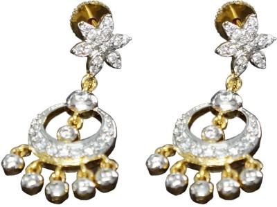 Sheetal Jewellery Cubic Zirconia Brass, Alloy Chandbali Earring