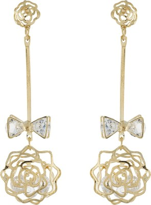 One Stop Fashion Stunning And Smart Gold Colour Alloy Drop Earring