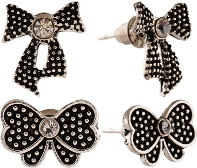 Anokhi Ada Butterfly and Bow Knot Metal Stud Earring