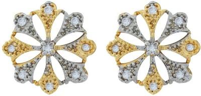Jewlot Dazzling AD 2001 Brass Stud Earring