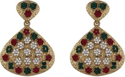 Variation Kundan Diamond Crystal Alloy Dangle Earring