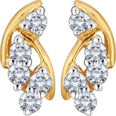 Glitz Design 0.19 Ctw Berries On Twigs Yellow Gold 14kt Diamond Stud Earring