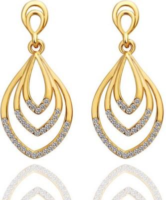 iSweven Vintage Gold Plated AAA zircon ethnic Latest Fashion Luxury Dangle ED2583 Zircon Alloy Drop Earring