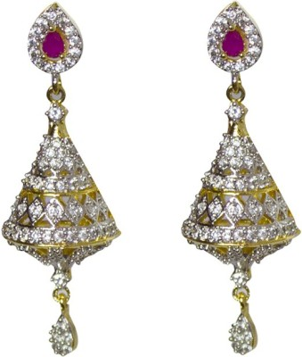 Jewelgrab Sai-Ad-Ruby Alloy Drop Earring