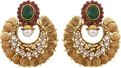 Jewelfin Traditional Look Alloy Chandbali Earring