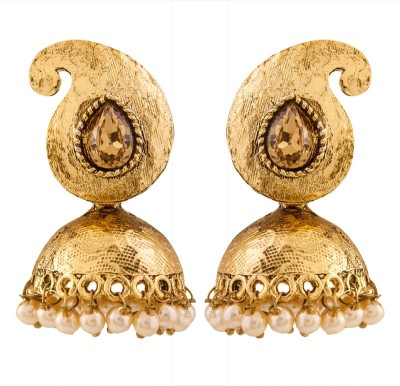 Volama Dsigner Gold Plated Pearl Alloy Jhumki Earring
