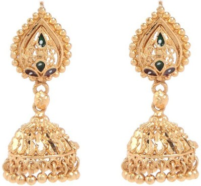GoldNera Sushma Brass Jhumki Earring at flipkart