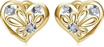 Kirati Flower in Heart Cubic Zirconia Sterling Silver Stud Earring