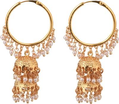 The Kewl Korner Fashion Earrings Brass Hoop Earring