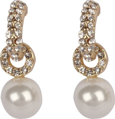 Divitha Allure Octopus leg drop down pearl pair from Divitha Allure,must have one in your jewellery box. Alloy Drop Earring