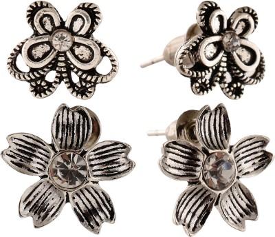 Anokhi Ada Flower and Butterfly Metal Stud Earring
