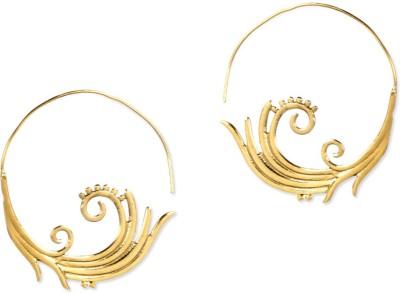 ZeroKaata The Golden Age Brass Dangle Earring