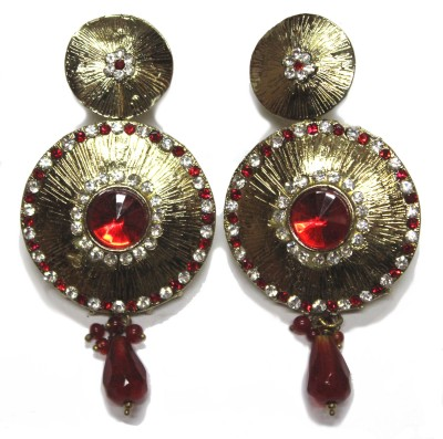 Fusion Jewels ER-350 Red Metal Drop Earring
