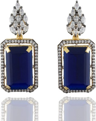 Chaahat Fashion Jewellery Attractive Shape Cubic Zirconia Copper Drop Earring